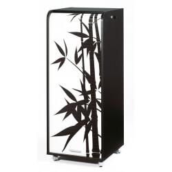 Caisson de bureau mobile à roulettes design noir Bambou