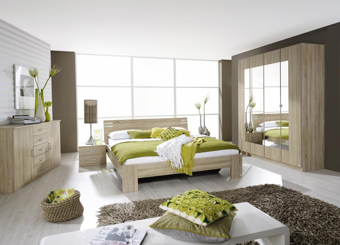chambre adulte complète contemporaine chêne clair venicia | matelpro
