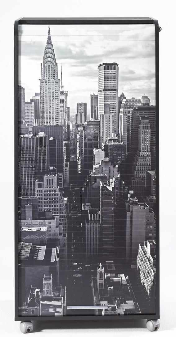 Bureau secrétaire informatique design noir imprimé New York Elissa