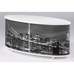 Meuble TV design blanc imprimé Brooklyn Diabolo