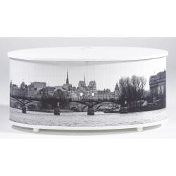 Meuble TV design blanc imprimé Paris Diabolo