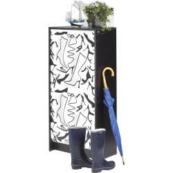 Meuble à chaussures à rideau design noir imprimé Botte Shooter