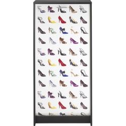 Meuble à chaussures à rideau design noir imprimé Talon Shooter