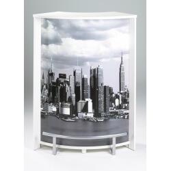Bar design blanc imprimé Vue de New York Vision