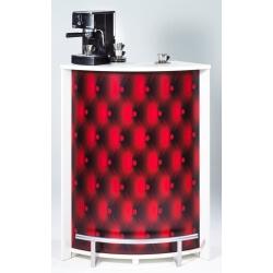Bar design blanc imprimé Capiton rouge Vision