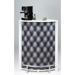 Bar design blanc imprimé Capition gris Vision
