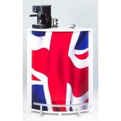 Bar design blanc imprimé Drapeau anglais Vision