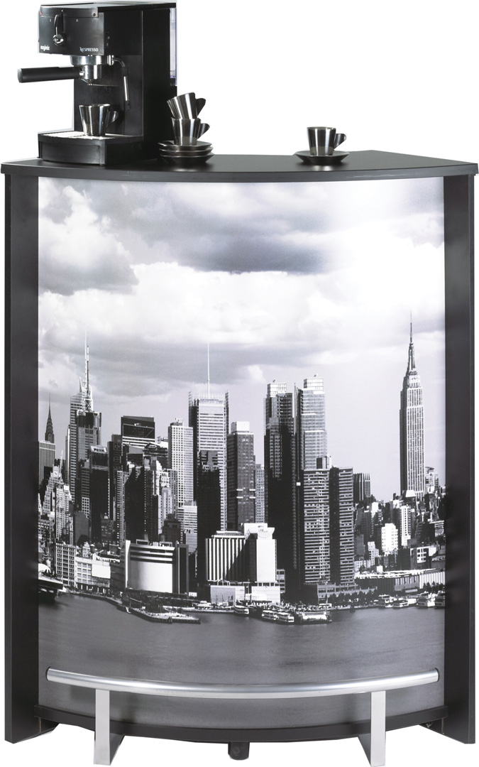 Bar design noir imprimé Vue de New York Vision