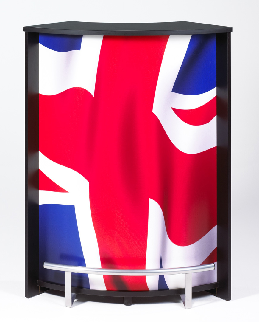 Bar design noir imprimé Drapeau anglais Vision