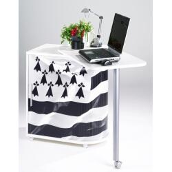 Bureau informatique design blanc imprimé Drapeau breton  School