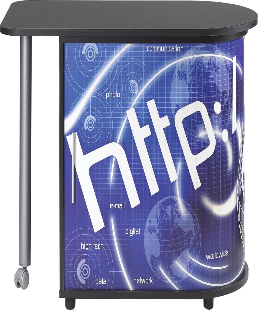 Bureau informatique design noir imprimé HTTP  School