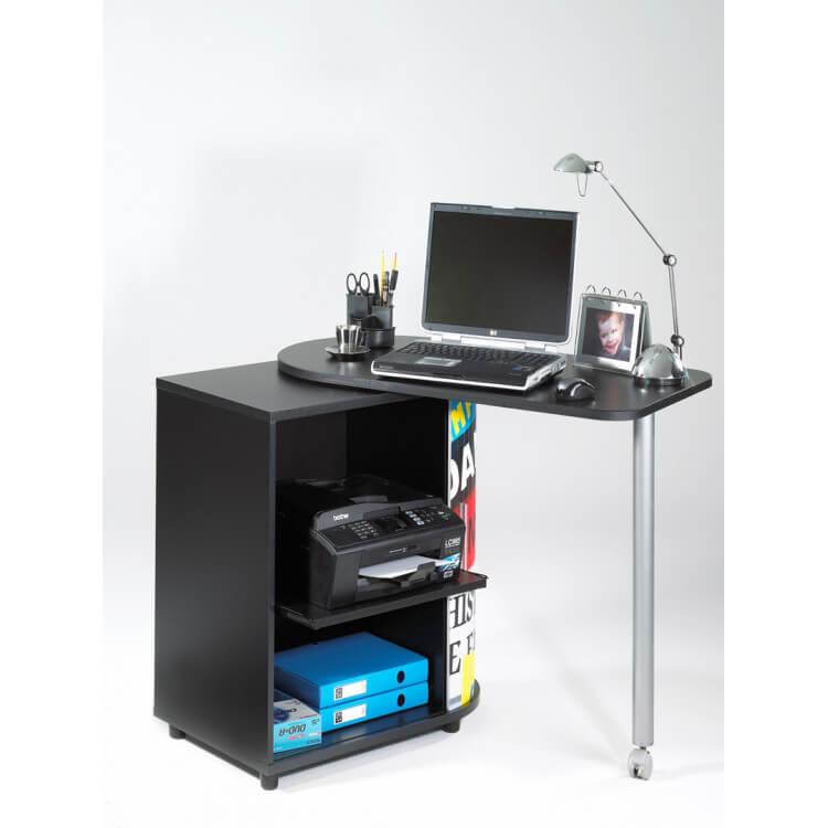 Bureau informatique design noir imprimé Drapeau anglais  School