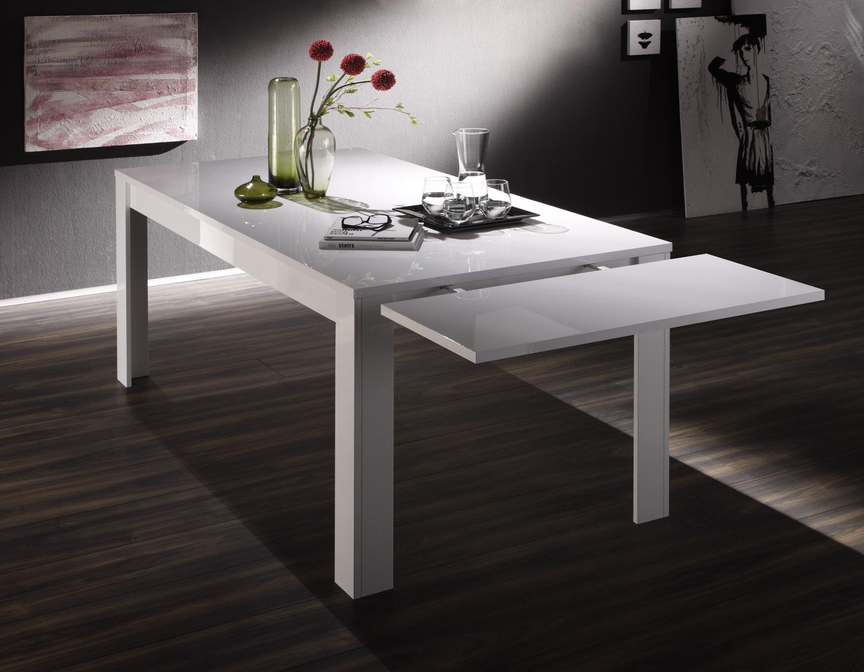 table de salle manger design laqu blanc judy matelpro. Black Bedroom Furniture Sets. Home Design Ideas