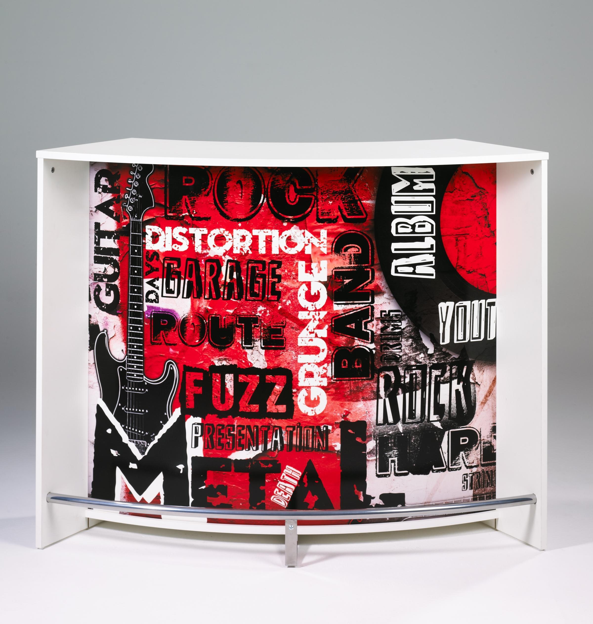 Bar design blanc imprimé Rock Miami