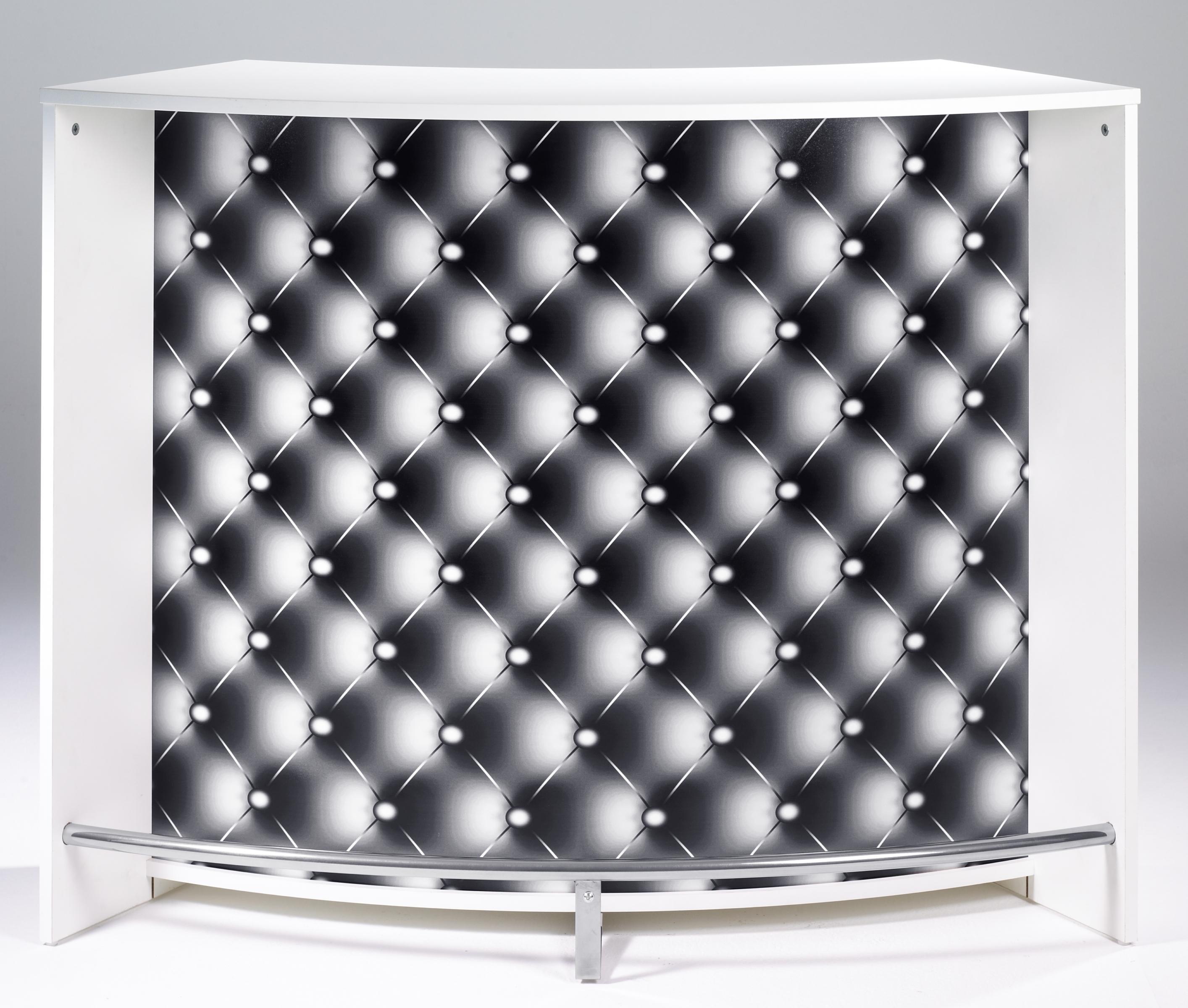 Bar design blanc imprimé Capiton noir  Miami