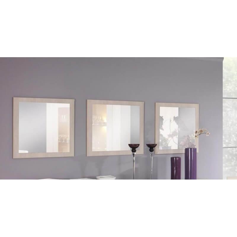 miroir de salle manger carr contemporain lot de 3 ch ne blanchi lexiane. Black Bedroom Furniture Sets. Home Design Ideas