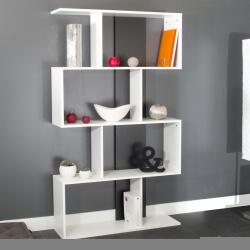 Etagère design coloris blanc/noir Caly