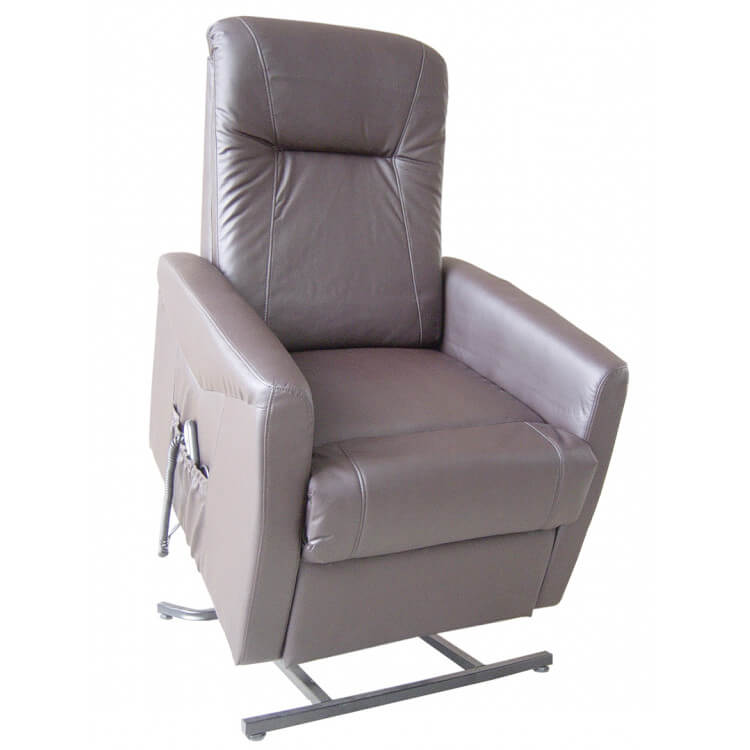 Fauteuil de relaxation imitation cuir électrique releveur avec repose-pieds intégré CONRAD