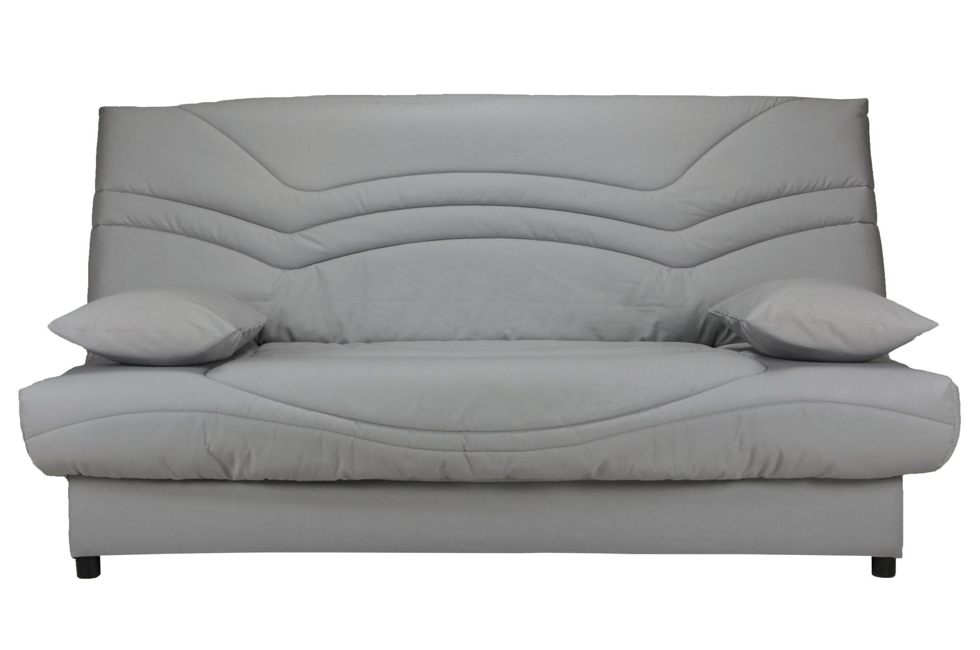 Canapé clic-clac contemporain coloris gris uni Vista
