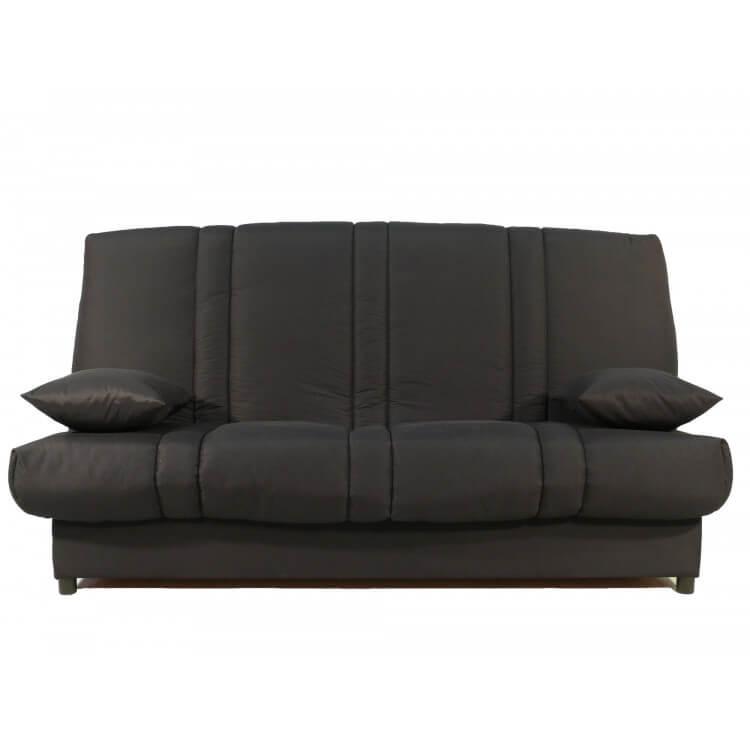Canapé clic-clac contemporain coloris noir Bobbie