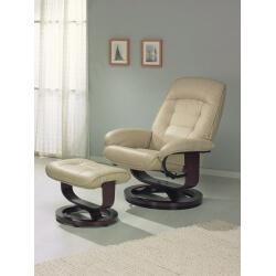 Fauteuil de relaxation manuel cuir avec repose-pieds INDO