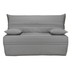 Banquette BZ contemporaine 140 cm coloris gris uni Vista