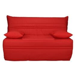 Banquette BZ contemporaine 140 cm coloris rouge Vista