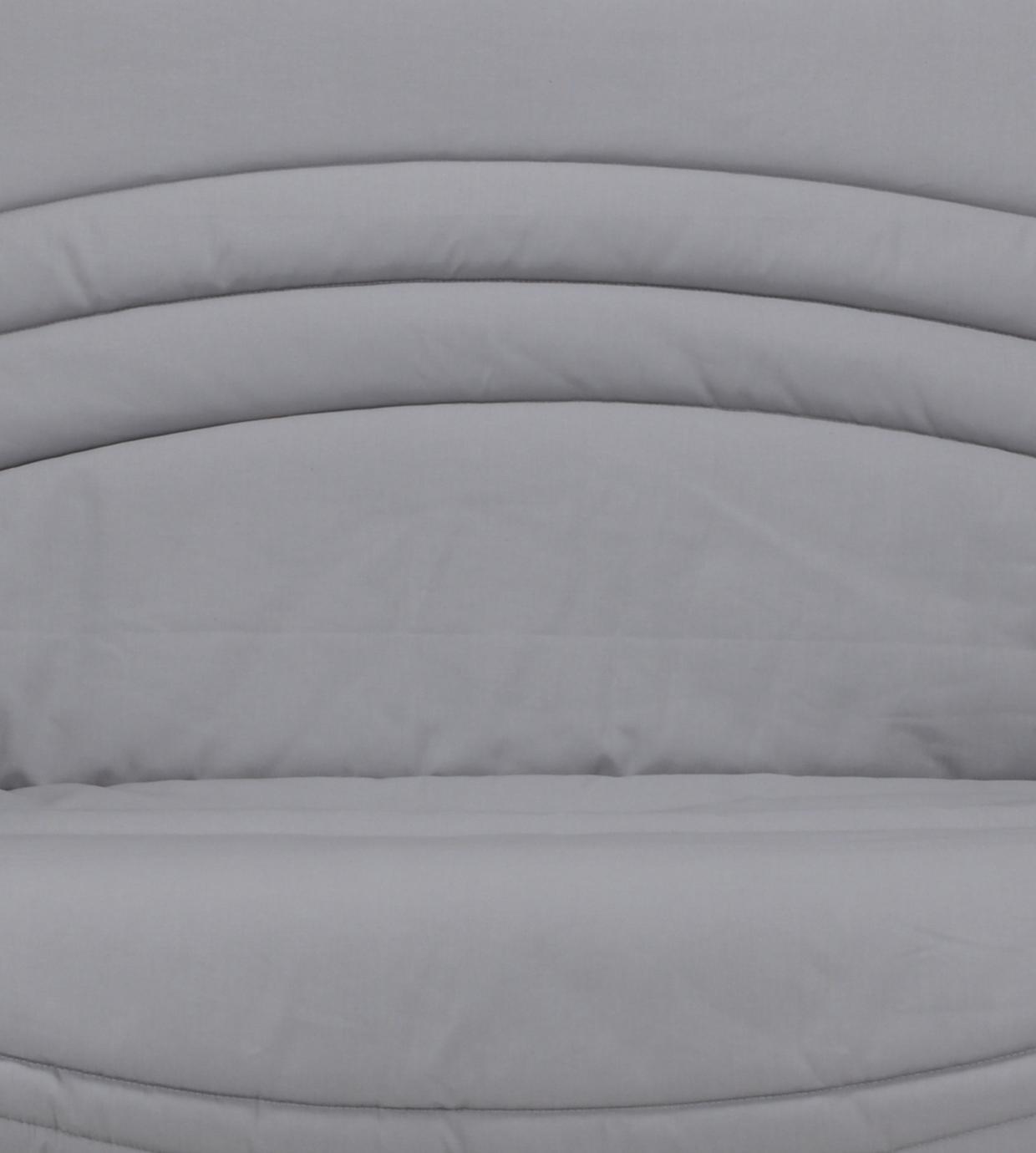 Housse clic-clac contemporaine coloris gris uni Vista