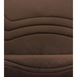 Housse clic-clac contemporaine coloris chocolat Vista