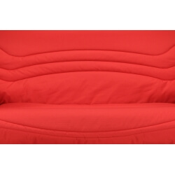 Housse clic-clac coloris rouge uni Vista