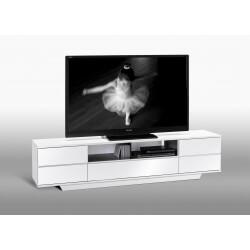 Meuble TV design blanc laqué Loeva