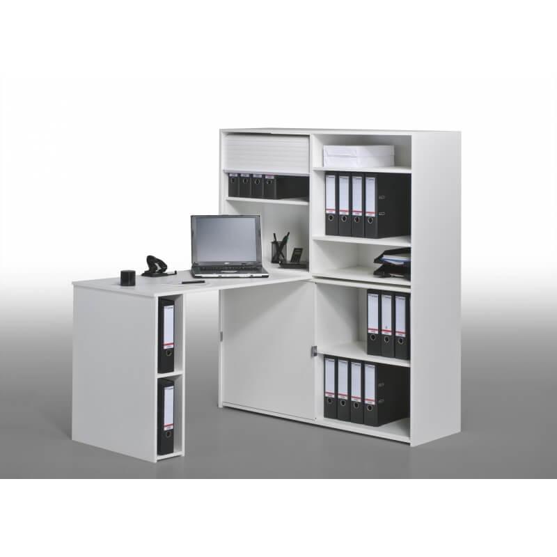 bureau informatique contemporain avec rangement ch ne. Black Bedroom Furniture Sets. Home Design Ideas