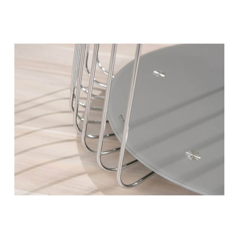 table basse design en m tal et verre grise zelda ii matelpro. Black Bedroom Furniture Sets. Home Design Ideas
