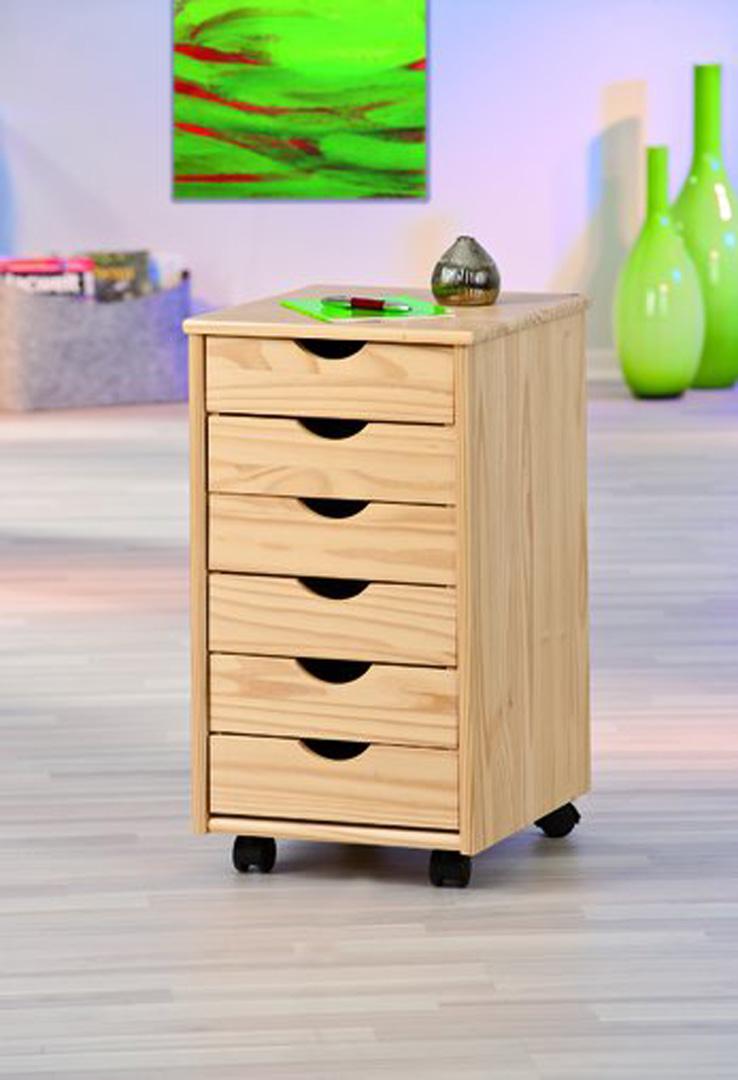Caisson de bureau sur roulettes coloris naturel Limon