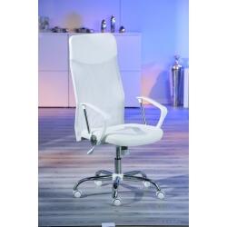 Fauteuil de bureau design en tissu blanc Flory