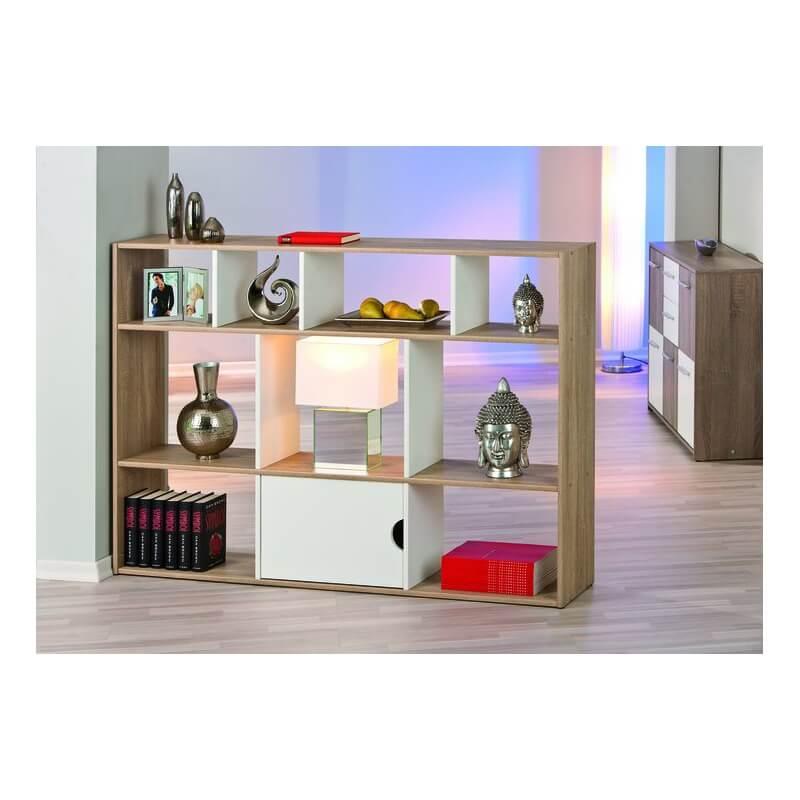 etag re de s paration contemporaine 10 casiers rectangulaire coloris naturel blanc ullo. Black Bedroom Furniture Sets. Home Design Ideas