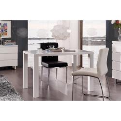 Table de cuisine design laquée blanche Destiny