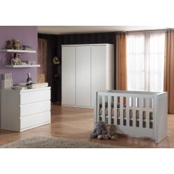 Chambre bébé complète contemporaine coloris blanc Elara