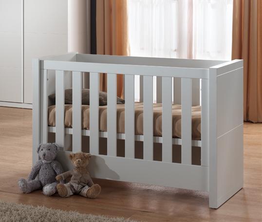 Lit bébé contemporain coloris blanc Elara