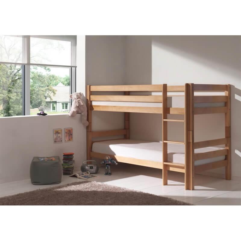 lits superpos s s parables h tre massif coloris naturel noah. Black Bedroom Furniture Sets. Home Design Ideas
