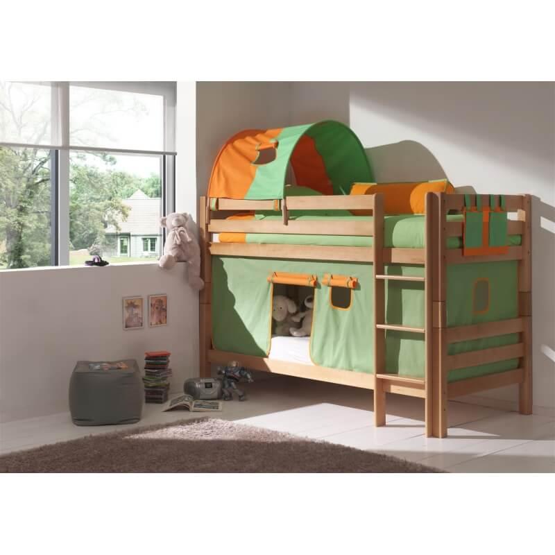 lits superpos s s parables h tre massif coloris naturel ashley. Black Bedroom Furniture Sets. Home Design Ideas