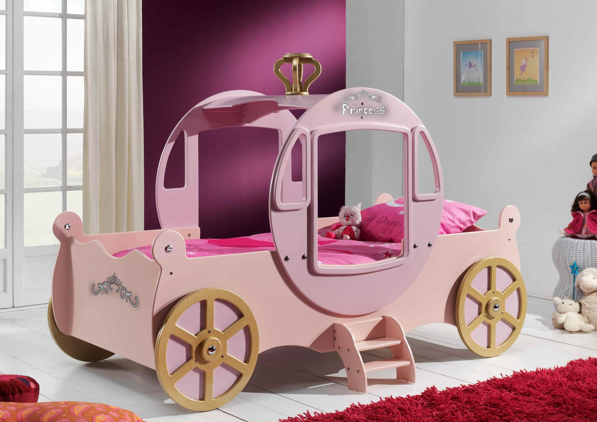Lit enfant carrosse coloris rose Royal Princesse