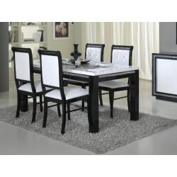 Chaise de salle à manger design noire et blanche (lot de 2) Doria