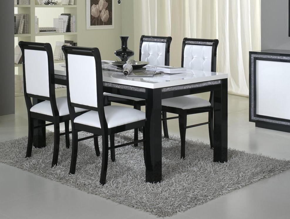 chaise de salle a manger design blanche. Black Bedroom Furniture Sets. Home Design Ideas