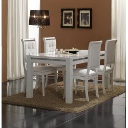 Chaise de salle à manger blanche (lot de 2) Perla