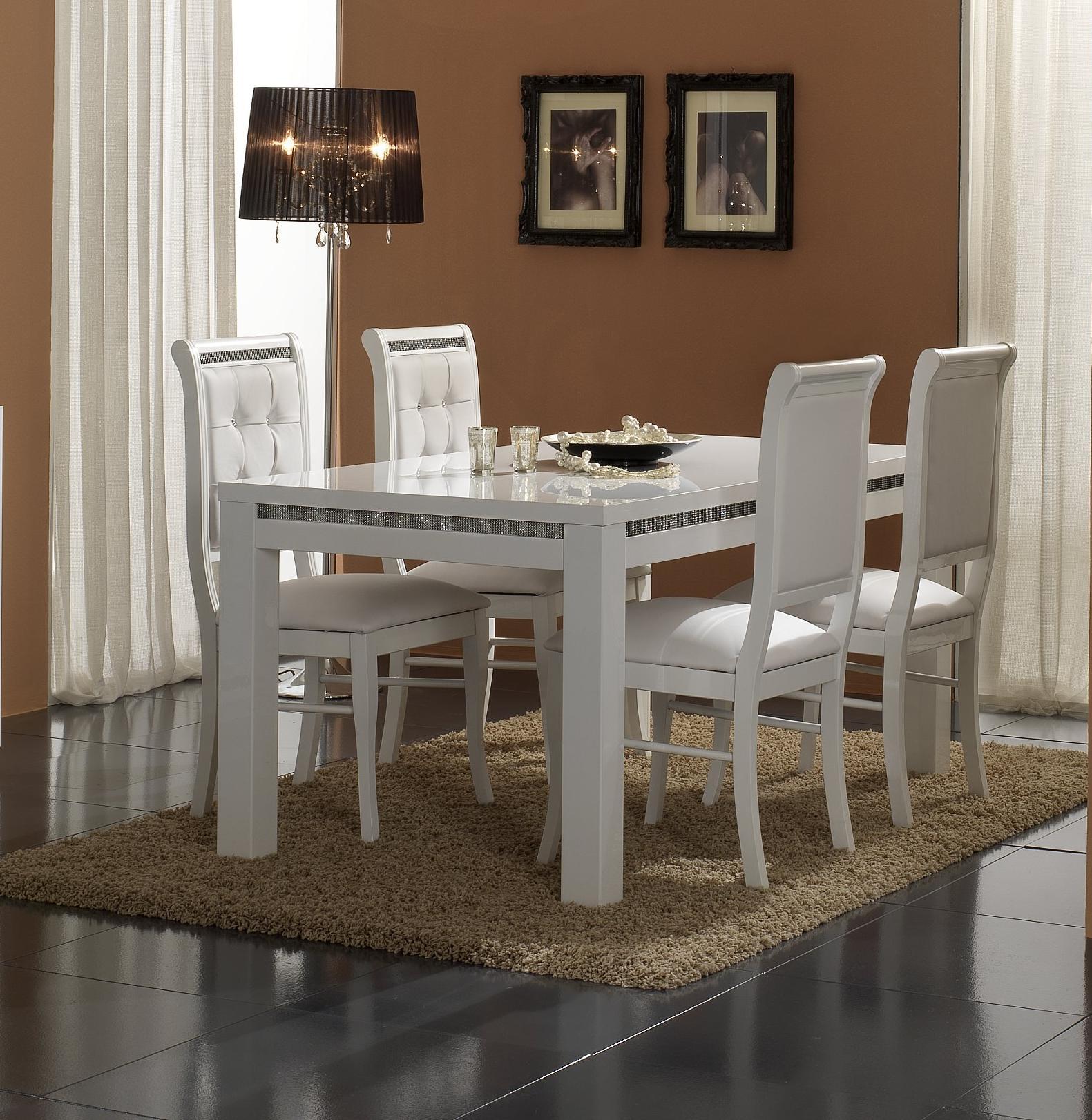 Chaise de salle manger blanche lot de 2 perla matelpro - Chaise de salle a manger blanche ...