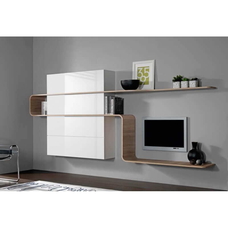 composition murale design ch ne blanc laqu slider. Black Bedroom Furniture Sets. Home Design Ideas