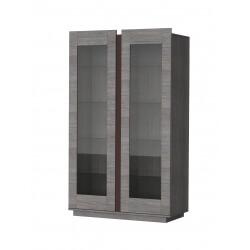 Vitrine 2 portes contemporaine chêne marron Celta