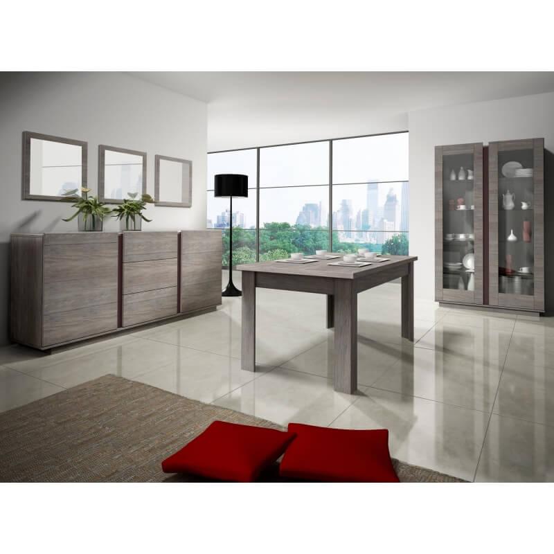 table de salle manger contemporaine ch ne marron celta. Black Bedroom Furniture Sets. Home Design Ideas