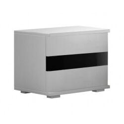Chevet design 2 tiroirs noir et blanc Thalis